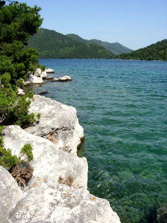 크로아티아 국립 공원의 믈리 제트 섬