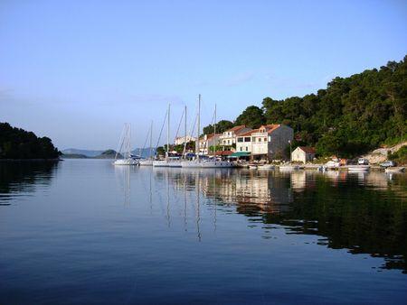 Pomena Harbor, Island of Mljet Croatia