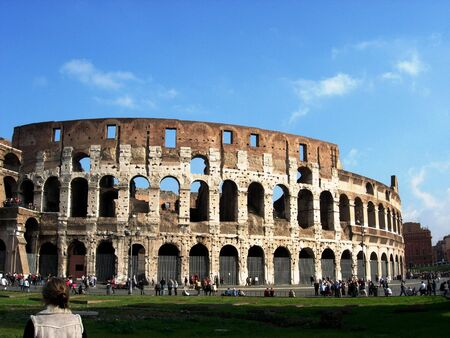 Roman Colosseum in Italy Stock Photo