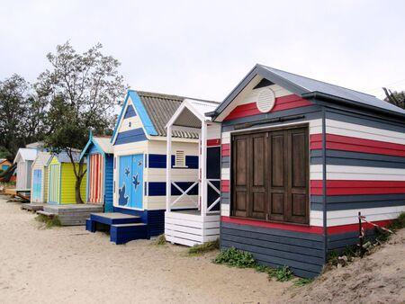 peninsula: Colorful Boat ShedsBath Houses of Mills Beach, Mornington Peninsula - Melbourne Australia