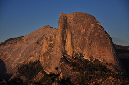 half dome: Half Dome sunset Stock Photo