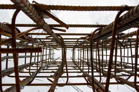 Reinforcing steel column for building Banco de Imagens - 139182272