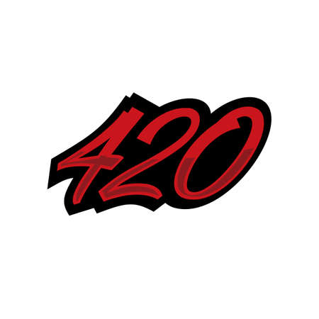 Grafiti 420 number vector illustration
