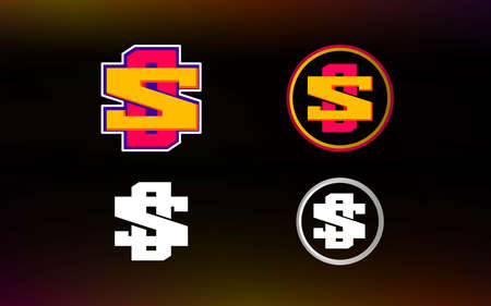OS letter logo with gaming style and contemporary colors