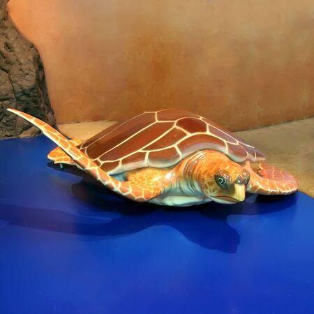 Giant sea turtle. photo