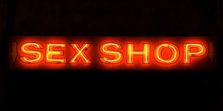 porno:  Shop-Leuchtreklame Lizenzfreie Bilder