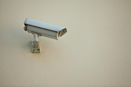 Security camera on wall of modern building Stock Photo - 6995477