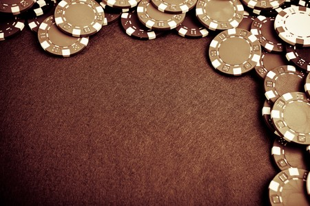 Gambling chips - grunge styled photo