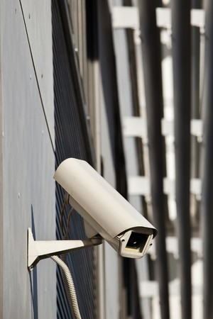 Security camera attached on building Stock Photo - 7823311