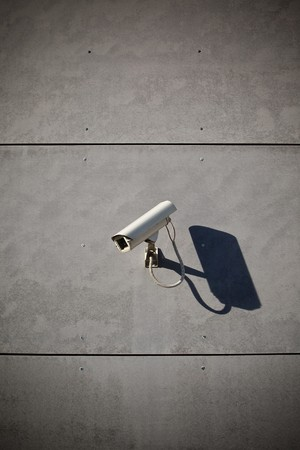Security camera attached on building Stock Photo - 7823617