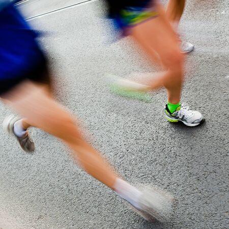 People running in city marathon  Stock Photo - 7922451
