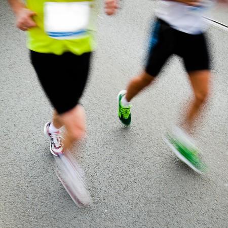 People running in city marathon Stock Photo - 7922449