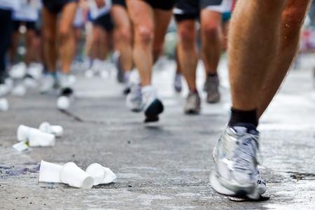 People running in city marathon Stock Photo - 7922460