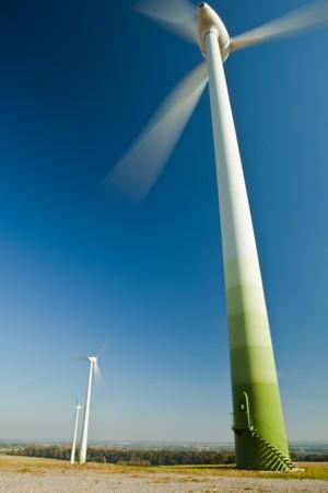 Wind Turbine - alternative and green energy source  photo