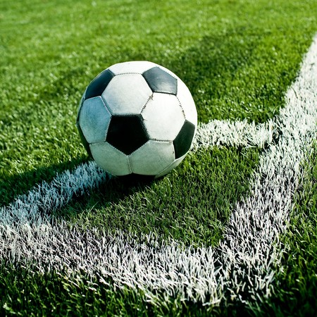 Soccer ball on the field Stock Photo - 8257034