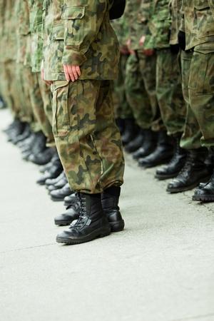 Soldati delle forze armate Archivio Fotografico