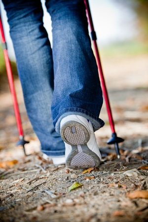 non moving activity: Walking with nordic walking sticks