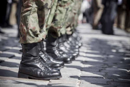 army men: Army parade - boots close-up