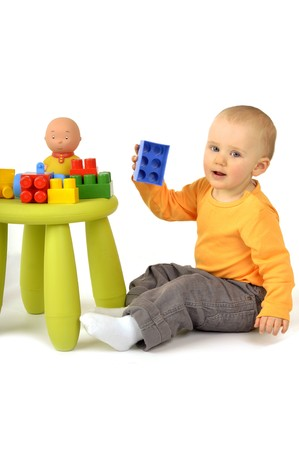 baby with blocks Stock Photo - 7124730