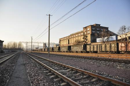 Railway freight transfer