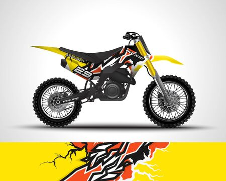 Motocross wrap decal and vinyl sticker design.
