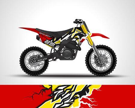 Diseño de calcomanía y calcomanía de vinilo de motocross.