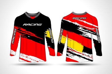 Long sleeve t-shirt sport jersey Vektorové ilustrace