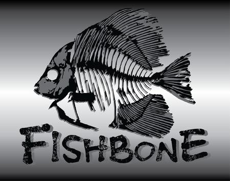 fish-bone illustration Stock Vector - 11559446