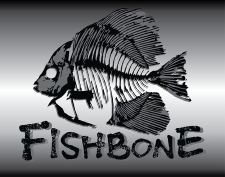 fish-bone illustration Stock Vector - 11559446