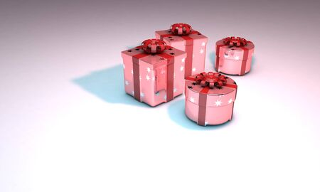 Gift packs background 3d work Stock Photo