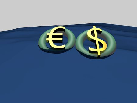 fluctuation: Economy the euro currency fluctuation issue Stock Photo