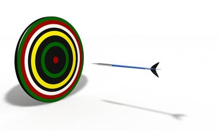 Three-dimensional models darts background Stock Photo