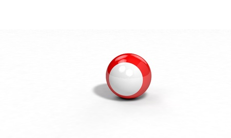 Three-dimensional color red billiard ball Stock Photo
