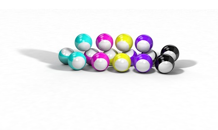 Three-dimensional background 3d render billiard ball Stock Photo