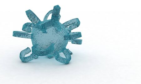 infectious disease: Abstract transparent model background 3d render