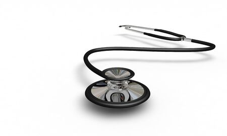 Doctor Stethoscope ,front view, 3d render, working