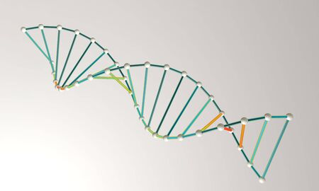 DNA model background 3d render, working Stock Photo
