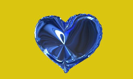 Background of ballon heart model, 3d render working Stock Photo