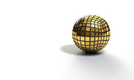 Background of sphere gold model, 3d render