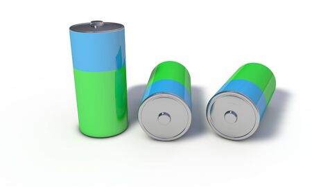 Background of Battery recycling, 3d render working