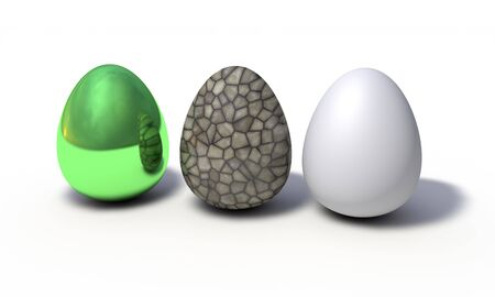 Background of colored eggs model, 3d render working