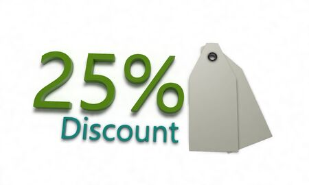 percent sign: Discount % on white , 3d render
