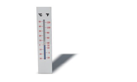Thermometer model working, 3d render wprking Stock Photo