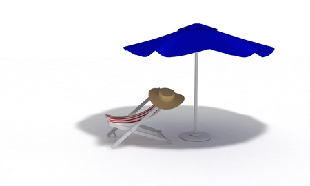Beach concept, 3d render working