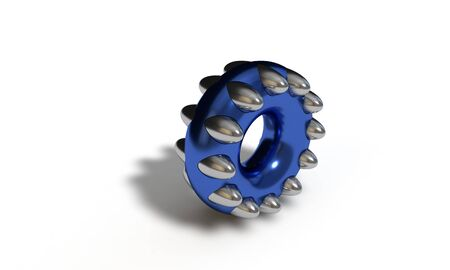spare: Abstract Ellipse ball ring, 3d render