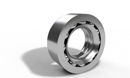 model kit: Ball bearing isolated on the white, 3d render Stock Photo