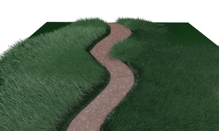 Make your own path concept, 3d render working