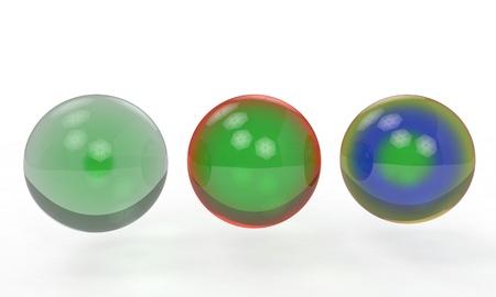 aluminum: Backgrounf of glass balls, 3d render working