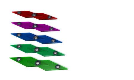 Backgorund of speed fidget spinners, 3d render working Banco de Imagens