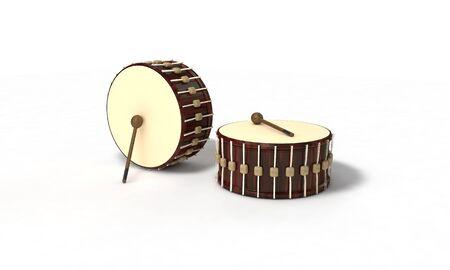 Ramazan drum of background, 3d render working
